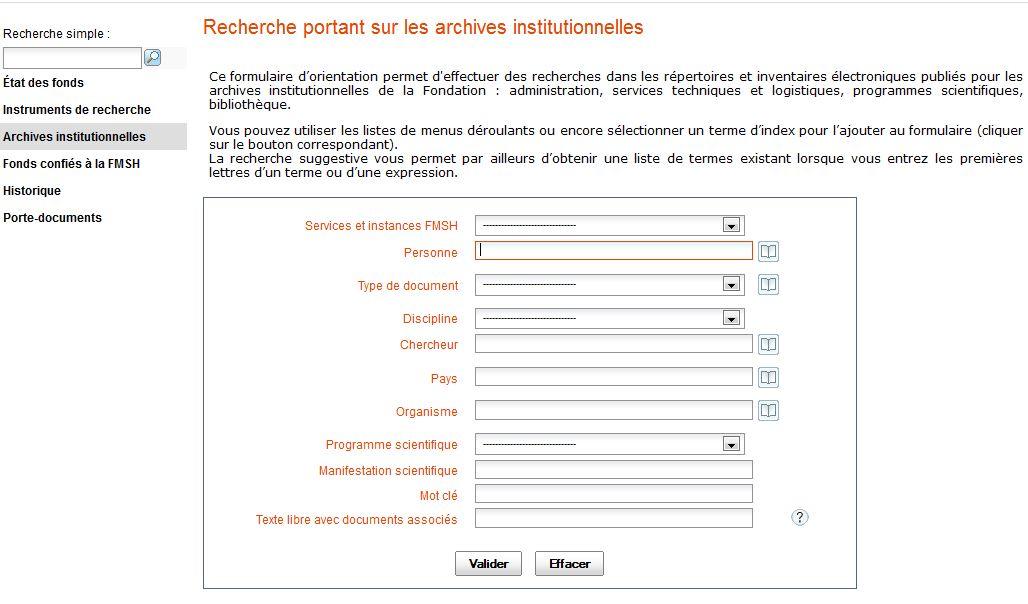 Concevoir un accès aux instruments de recherche archivistiques  le ... f10fb2234f0