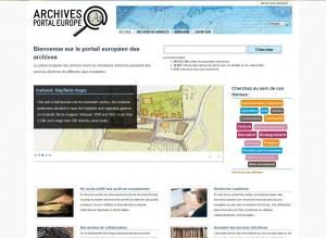 Page d'accueil du Portail européen des archives